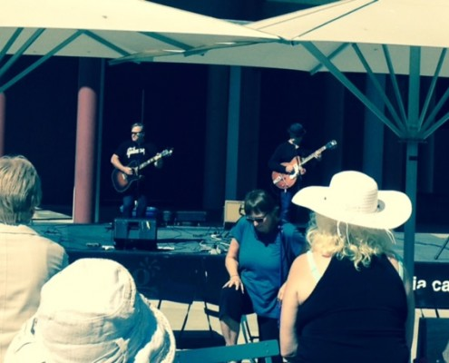 Outdoor show at Centennial Square
